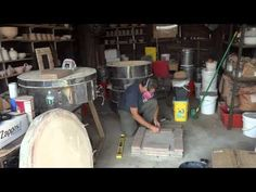 SIMON LEACH POTTERY TV - Reconstructing my propane gas kiln ! (1) - July 30th - YouTube