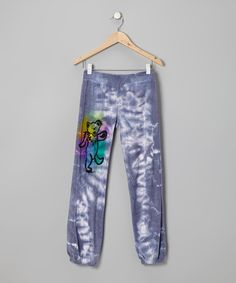 Take a look at this Blue Tie-Dye Dancing Bear Sweatpants - Girls on zulily today!