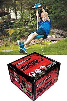 Slackers Zipline from Chinaberry on Catalog Spree Zip Line Backyard, Backyard Zipline, Outdoor Games, Outdoor Fun, Jason Ward, House Yard, Family Night, Kids Toys, Crafts For Kids
