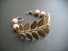 a touch of life bracelet  raw brass by KeoniDesign on Etsy