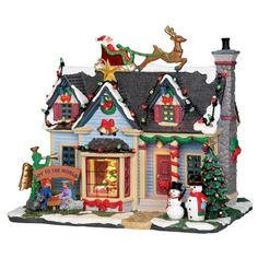 Every year, neighbors engage in a friendly competition over who will have the Best Decorated House in the village. Flashing Lights, Wreaths, Christmas Trees, Lawn Ornaments, etc.; this villager spared