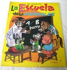 La Escuela de los animales Ed Vasco Americana EVA 1974 cuento Colección Mis animalitos - Foto 1