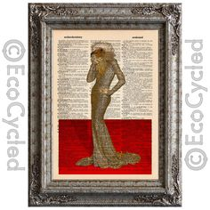 New to EcoCycled on Etsy: Elegant Vulture Celebrity on Red Carpet on Vintage Upcycled Dictionary Art Print Book Art Print Repurposed Recycled Amazing Animalia (10.00 USD)