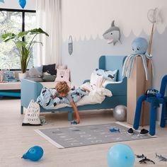 An adorable ocean themed bedroom for a little boy