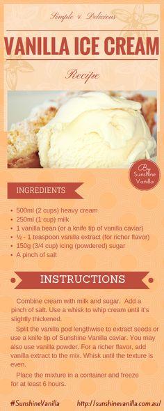 Vanilla ice cream recipe #SunshineVanilla #vanilla #recipe #icecream #desserts