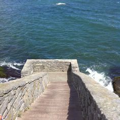 The forty steps near Salve Regina College and at the beginning of Cliff Walk.