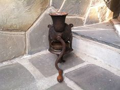 1860's Lovelock London Cast Iron Wall Mounted Coffee Grinder