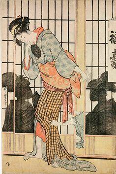 Kitagawa Utamaro: The Fukuju Tea-House (c1794-5) by Kitagawa Utamaro