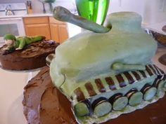 The Family Mixing Bowl: Military Soldier and Tank Cake