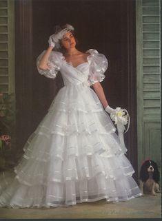 Wedding Dresses 1980 Off The Shoulder - pin on wedding dress 1980s Wedding Dress, Ugly Wedding Dress, Wedding Attire, Wedding Gowns, Bride Gowns, Bridal Dresses, Bridesmaid Dresses, Mode Vintage, Vintage Bridal