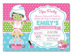 Free printable spa birthday party invitations spa at home in 2018 spa party invitation spa birthday party invitation pajama party pampering spa party girl birthda filmwisefo