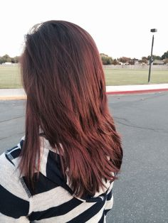 Dark red brown hair. Fall look for me :)