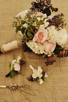 Boutonnieres ...like the earthy colors...