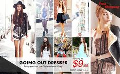 Sale for going out dresses! Starting at $9.99! Preparing for the Valentine's Day! Free shipping worldwide! Don't miss the rare chance! Go>>http://www.romwe.com/Going-Out-Dresses-c-400.html   2014 First Big Sale! Up to 70% off! Extended with another 1000 styles! Go>> http://www.romwe.com/2014-First-Big-Sale-c-395.html