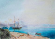 "Painting by me Copied from Ivan Ayvazovsky, ""Neopolitan Gulf"