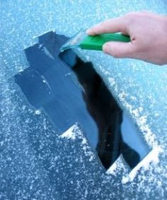 Defrost Windshields - Fill a spray bottle with 3 parts vinegar to 1 part water and spray generously on your car windows the night before. Also spray another generous amount of the vinegar solution to your windshield if some ice has managed to form upon it overnight.