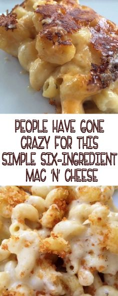 People have gone crazy for this simple six-ingredient MAC 'N' CHEESE, Could this creamy blend of cheese and pasta goodness be the best thing you make all week? Easy Soup Recipes, Side Dish Recipes, Casserole Recipes, Pasta Recipes, Chicken Recipes, Cooking Recipes, Side Dishes, Diner Recipes, Breakfast Recipes