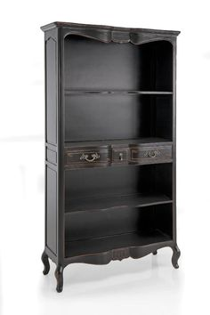 top drop - kind of. deeper in the center. Antique Armoire, Antique Furniture, Home Furniture, Vintage Bookcase, Gothic Books, Goth Home, Gothic Home Decor, Gothic House, Shoe Storage