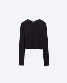 Image 8 of RIBBED CROP TOP from Zara