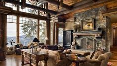 Manly Home Offices (22 Photos) - Suburban Men Rustic Home Design, Home Interior Design, Interior Decorating, Decorating Ideas, Rustic Style, Country Style, Rustic Decor, Modern Rustic, Country Living