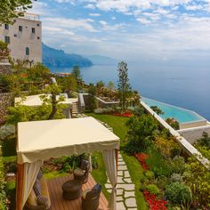 Monastero Santa Rosa, Campania | This gorgeous hotel on the Amalfi coast has 20 rooms, terraced gardens and an infinity pool that overlooks the indigo sea.