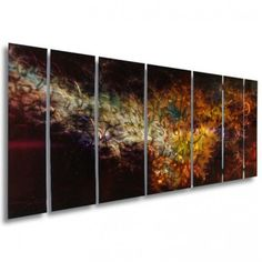 All My Walls Abstract by Ash Carl Holographic Metal Wall Art in Black - 23.5 x 60 - SWS00042