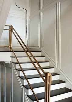 brass railing, crisp palette