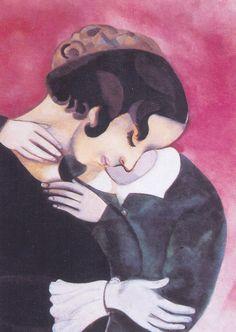 """Marc Chagall """"Los enamorados en Rosa"""" 1916"""