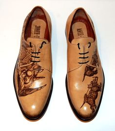 oh yeah, leather work. Mens Shoes Boots, Men's Shoes, Shoe Boots, Dress Shoes, Formal Shoes, Casual Shoes, Kicks Shoes, Mens Fashion Shoes, Painted Shoes