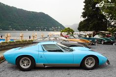 One of two 'azzurro cielo' Miura SV's with a 'pelle bleu' interior, this iconic car remains a Lamborghini of timeless style and unparalleled beauty.