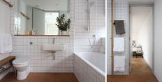 Modern retro bathroom (love the timber towel rack) | Corkellis House 2010 | Linea-Studio
