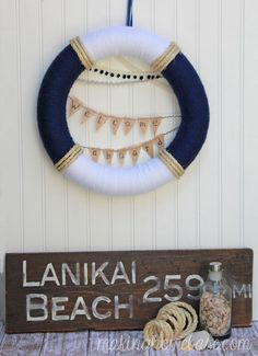 Summer Nautical Wreath - Celebrate the season with a pretty summer wreath craft!