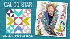 Make a Calico Star Quilt with Jenny Doan of Missouri Star (Video Tutorial) Quilter's Daily Deal Jenny Doan Tutorials, Msqc Tutorials, Quilting Tutorials, Quilting Designs, Quilting Stencils, Quilting Fabric, Quilting Projects, Sewing Projects, Texas Star