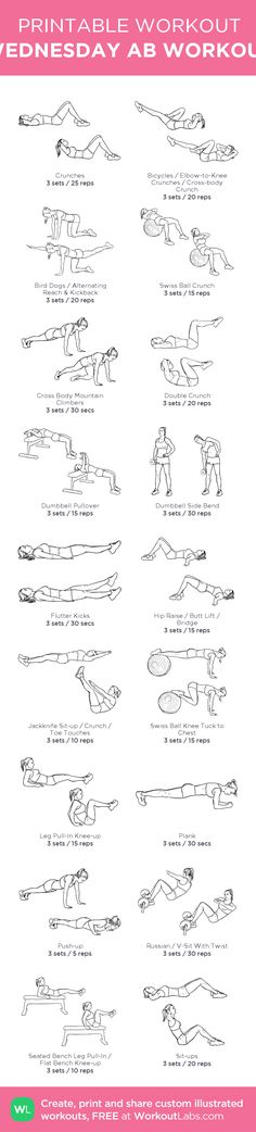 WEDNESDAY AB WORKOUT: my visual workout created at WorkoutLabs.com • Click…
