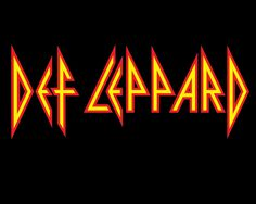 Def Leppard -- text title logo for a rock band