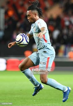 Monaco's Gelson Martins plays the ball during the French League Cup semifinal football match between Guingamp and Monaco on January 29 2019 at the. French League, January 29, Football Match, Monaco, Plays, Running, Games, Keep Running, Why I Run