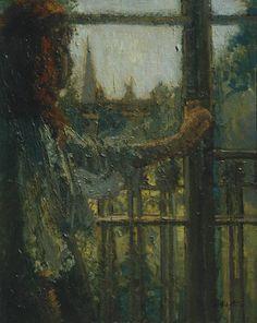 Girl at a Window , Little Rachel  -  Walter Sickert 1907  Impressionism