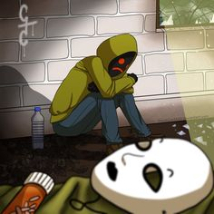 I believe that Masky and Hoody's bond is something that has been forgotten by far too many, true brotherly love.  They really had each other's backs and now that Masky's gone, I feel really bad for Hoody.  It must be lonely with only Slenderman to talk to... If he can talk...