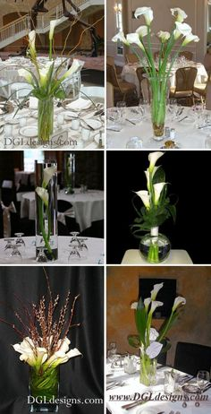calla lily   reception  decor  flowers