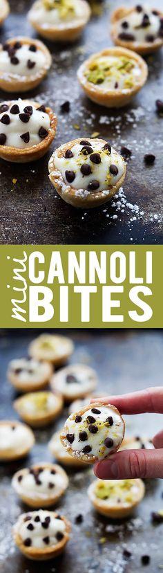 Mini Cannoli Bites | lecremedelacrumb.com