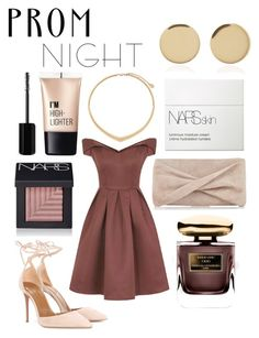 """""""beige princess - prom#3"""" by perfectblvck ❤ liked on Polyvore featuring Chi Chi, Aquazzura, Reiss, By Terry, NARS Cosmetics, Michael Kors, Magdalena Frackowiak, Charlotte Russe and Marc Jacobs"""