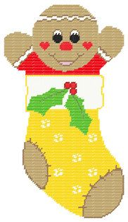 PDF FORMAT Plastic Canvas Gingerbread Boy by kathybarwick on Etsy, $4.20