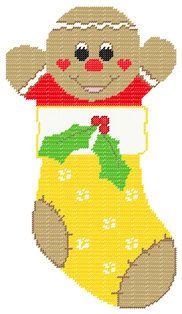 PDF FORMAT Plastic Canvas Gingerbread Boy by kathybarwick on Etsy, $4.20