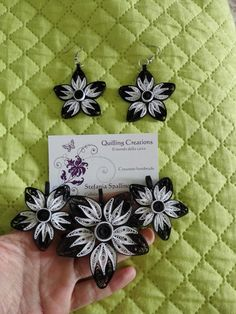 Black and white jewellery quilling