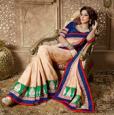 USD 91.19 Brown Silk Party Wear Saree 30425