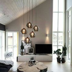 chic black and white living room interior modern living room decor apartment d Decoration Birthday, Decoration Bedroom, Decoration Design, Ikea Living Room, Chic Living Room, Living Room Interior, Luminaire Ikea, Black And White Living Room, Appartement Design