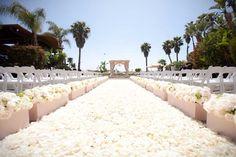 Carpet of Rose Petals designed by Karen Tran Florals.