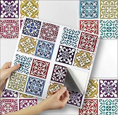 Tile Decoration Stickers Impressive Pack Of 10 Coffee Brown Cream Marble Stone Effect Mosaic Tile Decorating Design