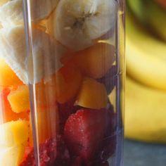 Smoothie Recipe - cameralinz - fruit chunks