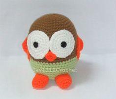 Baby Owl 61  Finished Handmade Amigurumi crochet by Ivy1312Crochet, $18.50